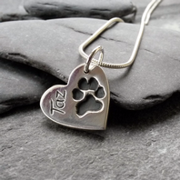 Regular Pawprint Charm Necklace